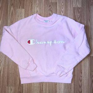 Champion Light Pink Crewneck Sweatshirt